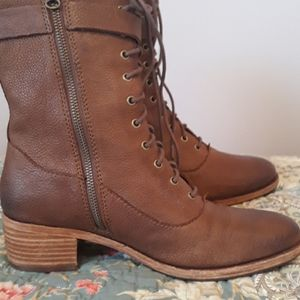 Kork-Ease Mid Calf lace up Boots Size 9
